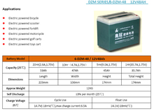 12v 48ah Deep Cycle Long Life Rechargeable VRLA Lead Acid Gel Battery For Electric bicycle