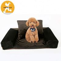 Chew-proof maroon enovelty sofa bed luxury pet dog beds