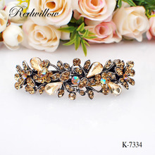 Factory supply luxury diamond metal hair barrettes