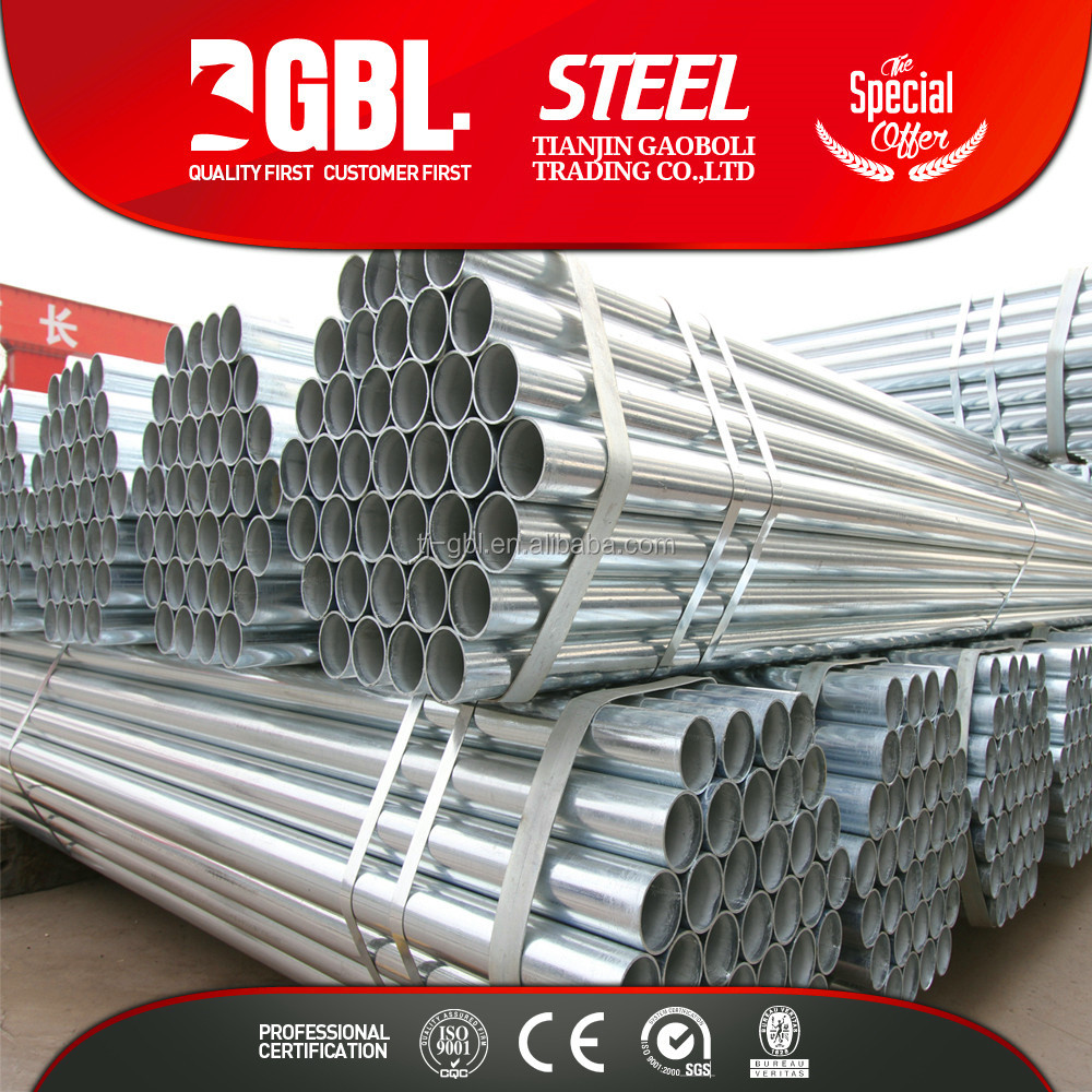 cold drown Pre-Galvanized round steel pipe tube price of 48 inch steel pipe at the lasted price