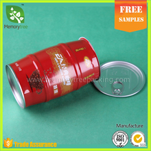 250 gram seal lid bulgy empty coffee can wholesales