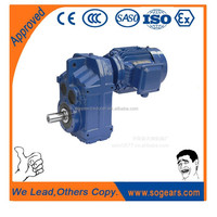 New power transmission 1.5 kw motor reduction gear box with electric motor
