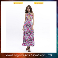 Free sample long one piece clothing dress sexy women maxi dress