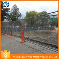 Yellow color mobile construction safety fence for Canada/safety temporary fencing