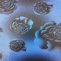Flower design Environmental pvc leather