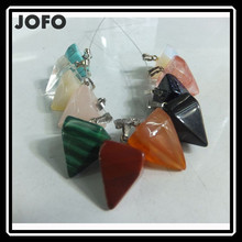 Factory Wholesale Semi precious Stone Turquoise Pendant Charms Healing Chakra SCC0011