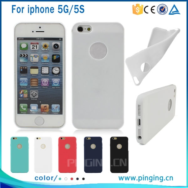 Ultra thin frosted tpu case for iphone 5 5s, bulk case for iphone 5
