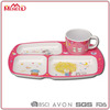 BPA free hot sale 4 compartments with cup children use melamine plastic tray in food grade