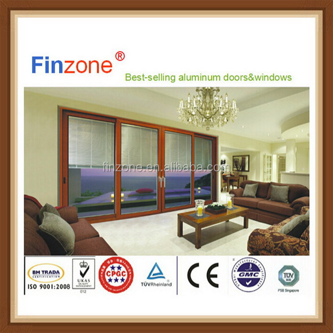 Fashionable best selling sliding glass aluminum mosquito net door