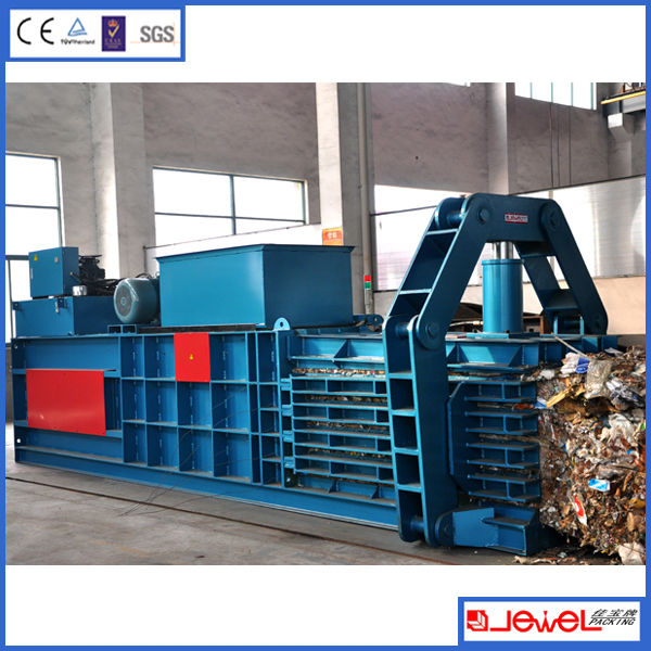 JPW60E semi-automatic horizontal Waste cardboard press baler, carton press baling machine, waste paper recycling machine