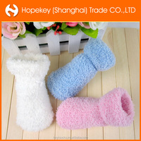 Baby sole anti slip fluffy socks, newborn baby warm soft socks