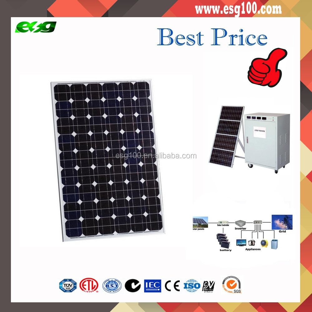 100W 95W Mono Solar Panel, High efficiency Made of A-grade Monocrystalline Cells With TUV/IEC/CE/CEC Certificates