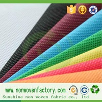 Sunshine low price pp spunbond nonwoven fabric, home textile fabric, fabricas de tela