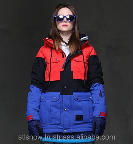 2014/2015 High quality waterproof 20000mm ski & snowboard jacket, Opera Red/Black/InkBlue