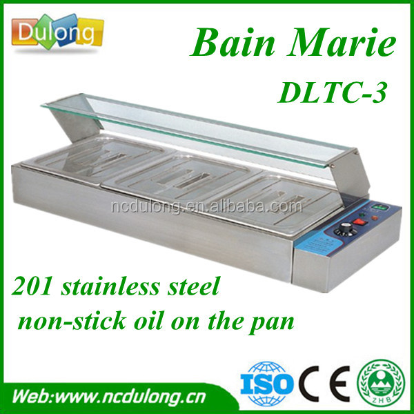 top-class 201 stainless steel bain marie cooking equipment DLTC-3