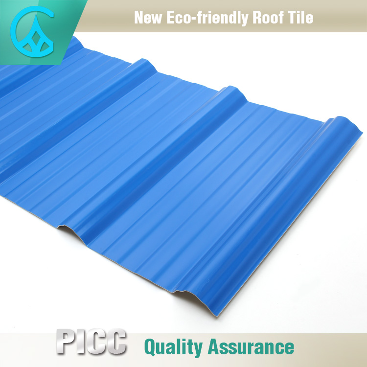Lightweight Warehouse Plastic Heat Insulation PVC Roof Shingle