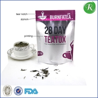 three side seal tea bag with clear window and European hang hole;OEM tea bag from Chinese manufacturer;8 colors aluminum tea bag
