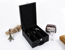 China Factory wholesale durable and high quality leather wine storage box packaging case