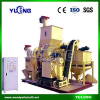 Mobile chicken/fish/cow feed pellet production line