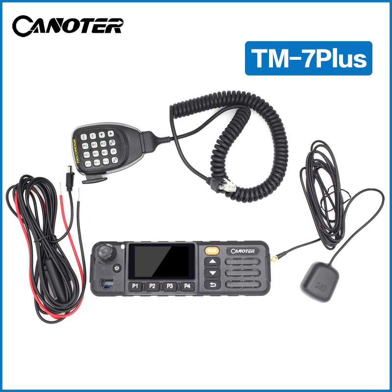 Manufacture Canoter 4G LTE touch screen network Canoter touch screen PTT mobile car radio and WiFi TM-7PLUS