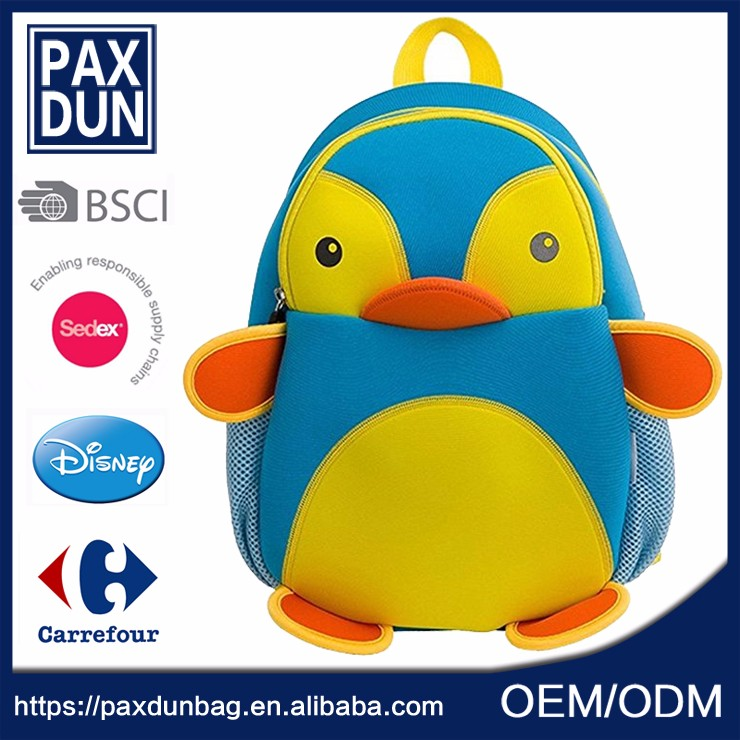 Kids Neoprene School <strong>Backpack</strong> with Cute Image of School Bag