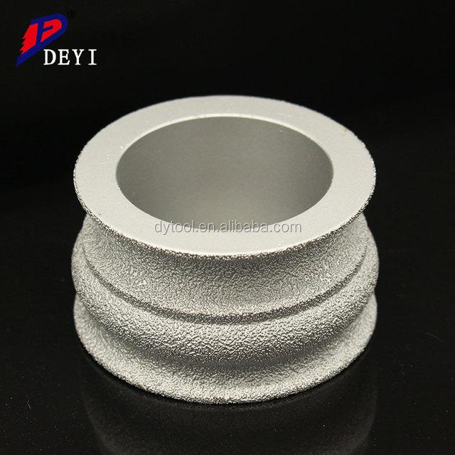 Electroplating stone grinding diamond profile disc wheel