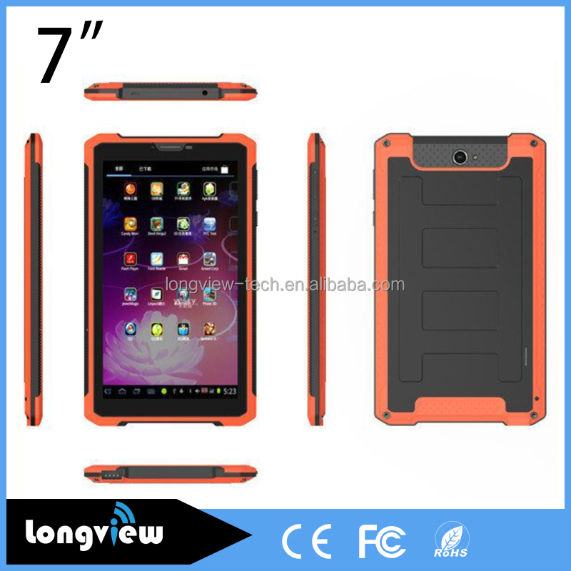 7inch android 4.4.2 rugged tablet MTK6572 Dual Core Capacitive Touch Screen 3G tablet