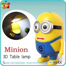 mini plastic children cartoon rechargeable usb led table lamp