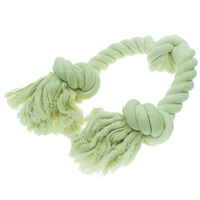Gravim Wholesale Flossy Chews Colored Cotton Ball with Rope Ends In Bulk