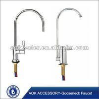 Gooseneck kitchen faucet