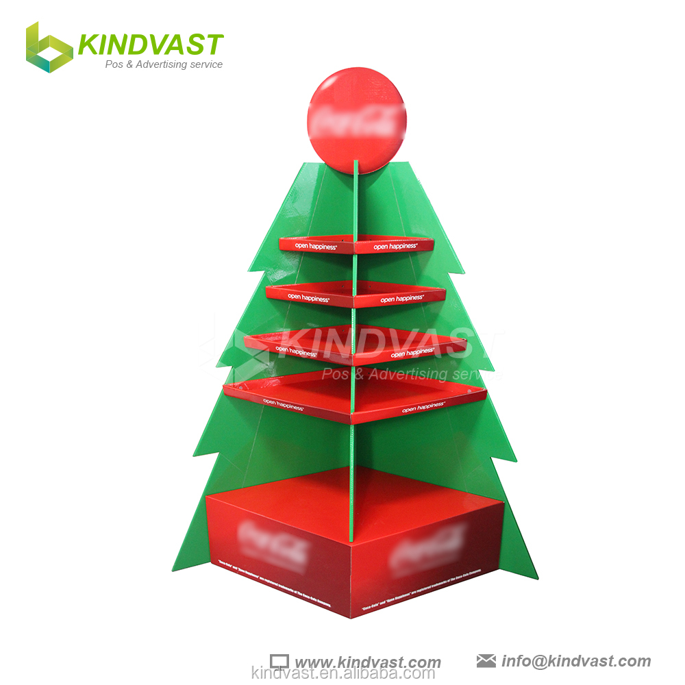 Beautiful Christmas tree cardboard shelf display