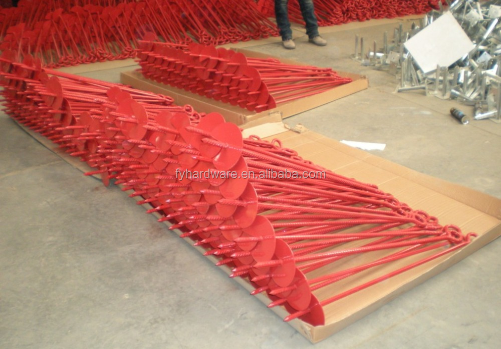 Red Earth Spiral Anchor Ground Stakes for Tents