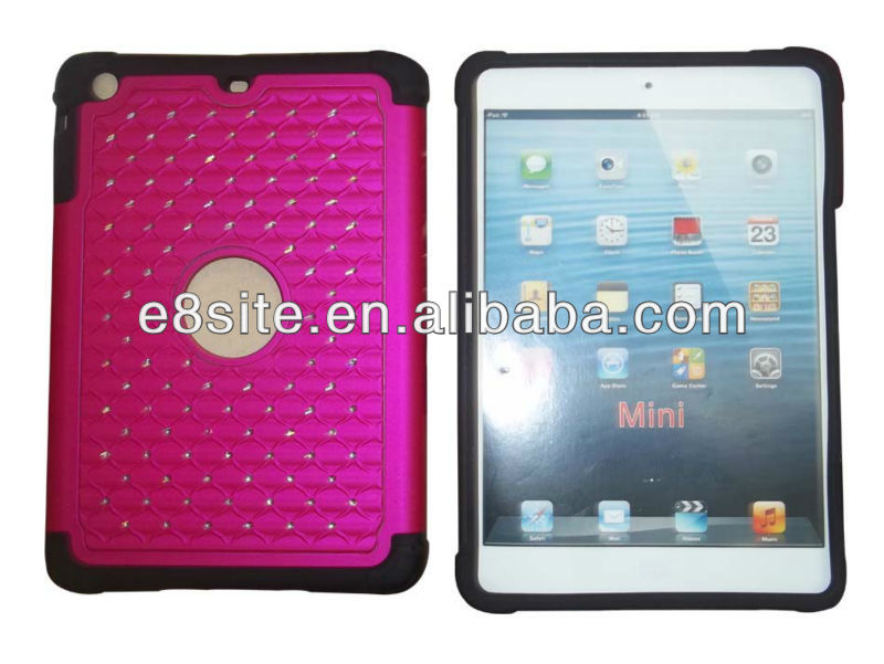 Diamond Full Star Combo Case For iPad Mini