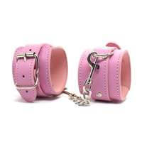 1 Set Pink Adult Fun Gift Flirt Plush Red Hand Cuffs Plush Metal hand cuff Sex Product for Adult Sex Toys