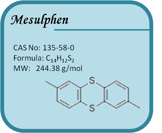 CAS#135-58-0,Mesulfen,(Mesulphen)the treatment of itching,cabies, tinea, white ringworm and other parasitic skin diseases.