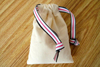 Recycleable Cotton Pouch with colorfull drawstring Pulls
