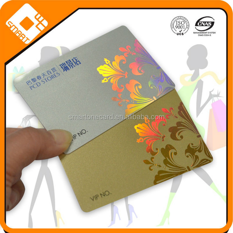 High quality ISO 7810 CR80 plastic PVC card for business promotion