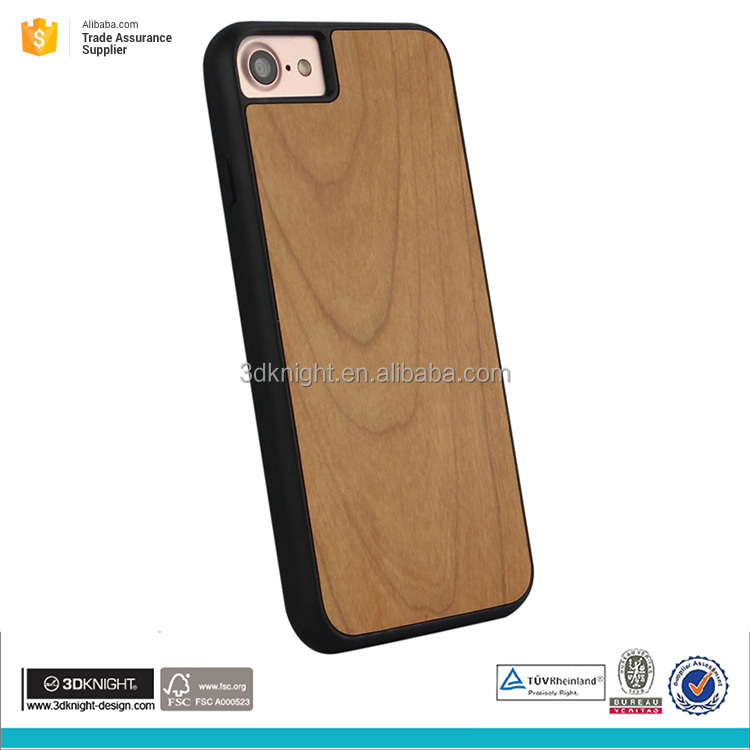 for iphone 7 3d sublimation custom wood TPU case