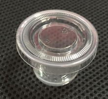 1oz Disposable Plastic Souffle Cup Sauce Cup with PET Lid
