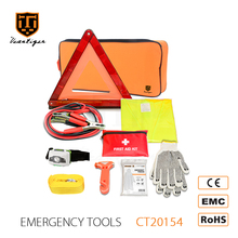 Auto Car Accessories of Safety Vest And Tow Rope And Warning Triangle Emergency Car Kit Roadside Emergency Kit