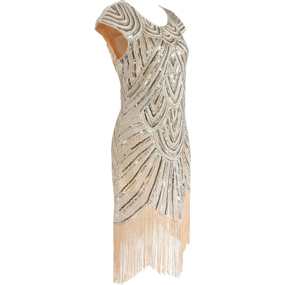 BestDance Ladies 1920s 20s Party Dress Flapper Costume Charleston Gatsby Party Outfit Fancy Dress Halloween Costume Dress
