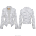 Custom Wholesale women western popular products white point jacket & ladies blazer design