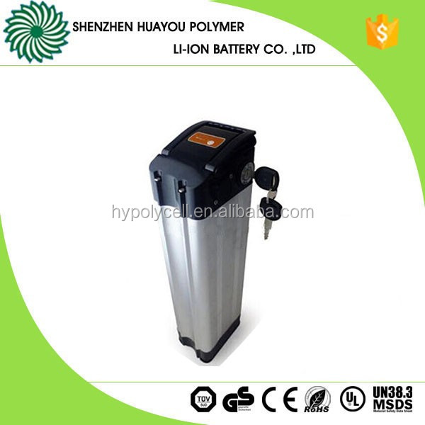 Chinese Customized 11.6Ah 36v Electric Bike Battery in Frame