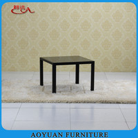 B217-2 hign quality tempered glass top metal coffee table