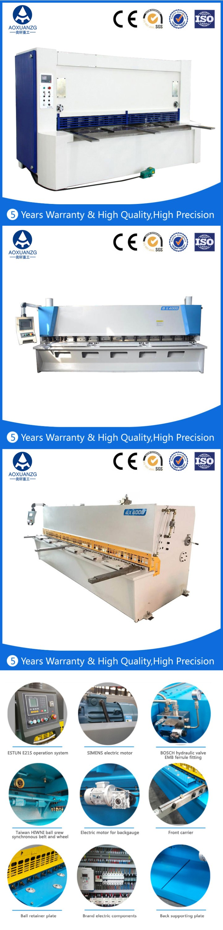 Alibaba Best Manufacturer Top Quality QC12K QC11K Amada 6mm 8mm 12mm 16mm Hydraulic Shearing Machine