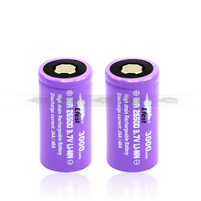 2014 New Release IMR efest 26500 3000mah rechargeable 3.7V Li-Mn flat top Batteries