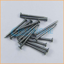 Manufacture high quality low price 17 x 27 two head polished iron nails export to brazil