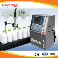 Industrial continuous bottle expiry date inkjet printer
