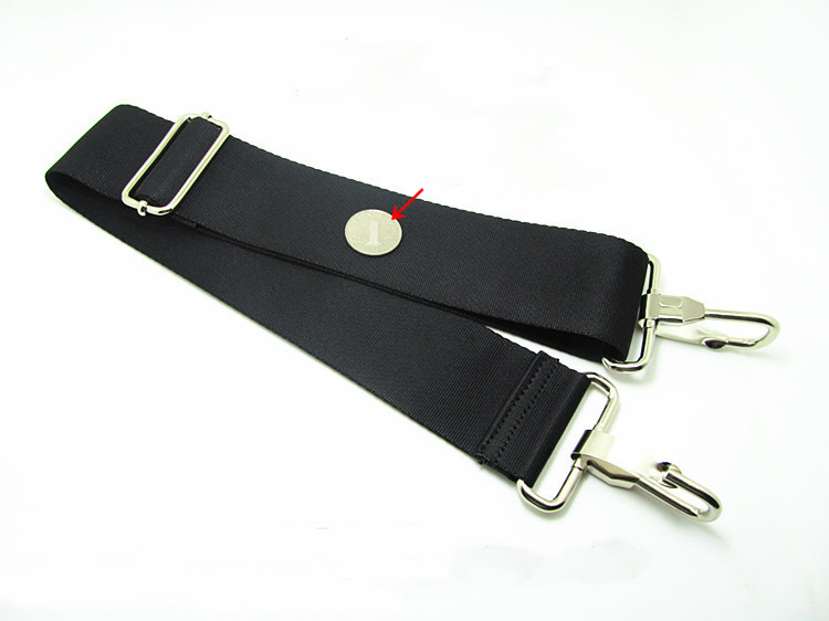 25mm/38mm black replacement shoulder strap with antislip padding