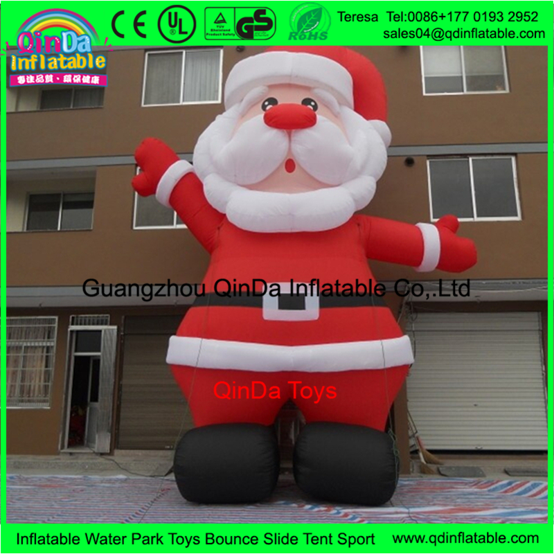 Super Cute Cartoon Body Inflation Santa Claus Inflatable Sasquatch Cartoon Adult Inflatable Christmas Cartoons For Promtion